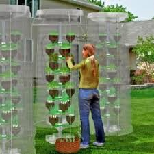 pet tree is a vertical eco gardening system made from recycled pet