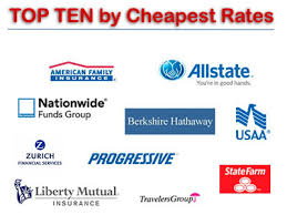 Cheapest State by Top 5 Cheapest Car Insurance Companies