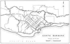 santa barbara california map california city maps at americanroads com