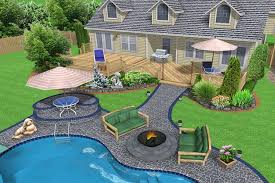 Landscaping Around Pools by Contemporary Creative Privacy Landscaping For Front Yard Landscape