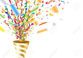 party confetti exploding party popper with confetti and streamer royalty free
