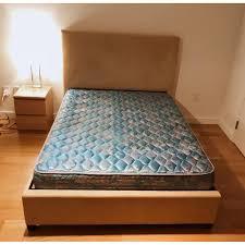 Pottery Barn Headboard Pottery Barn Twill Square Bed W Headboard Aptdeco