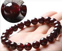 garnet gemstone bracelet images 8mm genuine natural deep wine red garnet crystal round clear bead jpg