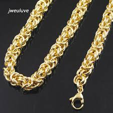 gold necklace womens images 9mm wid gold color chain link necklace huge heavy long rope jpg