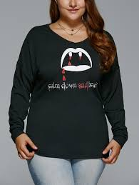 halloween shirts plus size plus size letters print halloween t shirt black xl in plus size