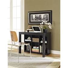 bookshelves with storage ameriwood home parsons desk with cubbies black walmart com