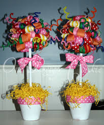 Lollipop Topiary One Preppy Cookie Tutorial How To Make A Ribbon Topiary