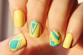 yellow nail arts images nail art designs