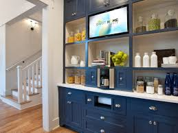 great blue kitchen cabinets for interior renovation inspiration