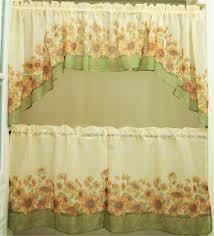 Sunflower Valance Curtains 5 America Sunflower Printing Kitchen Window Curtain Set