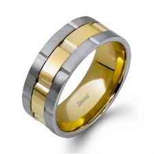 gold mens wedding band simon g plain yellow gold mens wedding bands designer engagement
