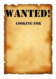 5 wanted poster template free outline templates