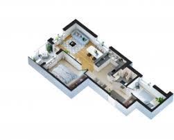 scandinavian style apartment 3d floor plan u2013 viscato