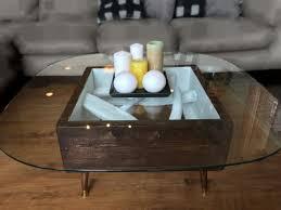tempered glass u0026 driftwood coffee table u2013 griz