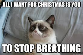 All I Want For Christmas Is You Meme - all i want for christmas is you to stop breathing misc quickmeme