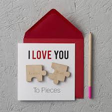 Homemade Valentines Day Ideas For Him by I Love You To Pieces U0027 Magnets Anniversary Card Cloud Magnets