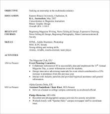 Resume Samples For Internships For College Students by Internship Resume Template 7 Download Free Documents In Pdf Word