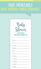 inspirational free printable baby shower word scramble