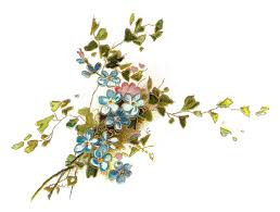 blue flower clipart vintage pencil and in color blue flower