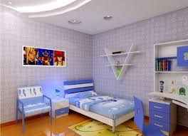 children bedroom rendering of white ceiling and light blue