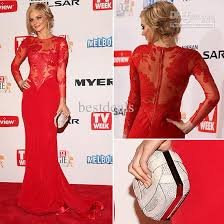 new red pageant dresses jewle lace applique long sleeves