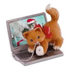 mischievous kittens computer mouse ornament keepsake ornaments