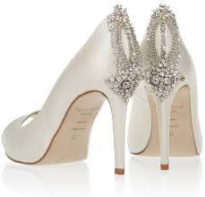 wedding shoes embellished heel wedding ideas bridal wedding shoes ivory tremendous image ideas