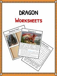 dragon facts worksheets u0026 mythical creature history kids