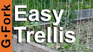 how to make a trellis gardenfork tv youtube
