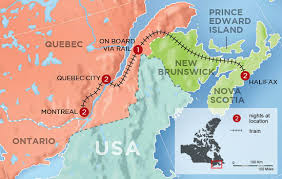 map of eastern usa and canada canada tours fall colors