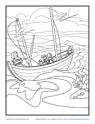 bible coloring pages paul u0027s shipwreck jesus boat coloring page