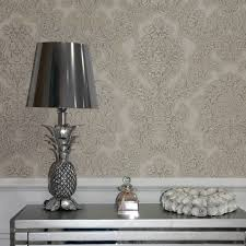 arthouse vicenza damask wallpaper in taupe 270402