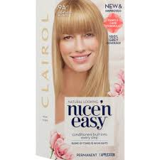 clairol nice n easy natural light auburn clairol nice n easy permanent hair colour natural light ash blonde 1