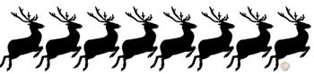 reindeer silhouette template flying reindeer silhouettes