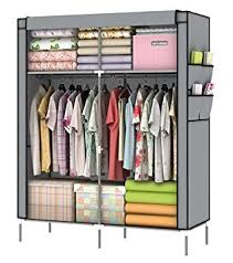 clothes cupboard amazon com youud closet portable closet organizer portable