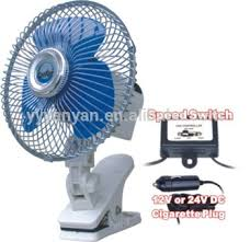 6 inch oscillating fan 12v 24v 6 inch car auto mini oscillating fan with clip mounting