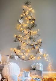creative christmas tree lights christmas tree made of lights on the wall diy merry christmas tree