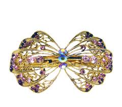 barrette hair purple hair jewelry purple hair barrettes hair