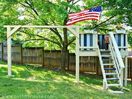 Backyard Swing Plans by Diy Swing Set U0026 Playhouse Our Fifth House