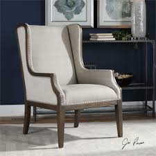 Chas Armchair Uttermost Florent Taupe Gray Armchair Furniture Ideas