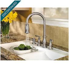 2 handle pull down kitchen faucet stainless steel hanover 2 handle pull down kitchen faucet f 531