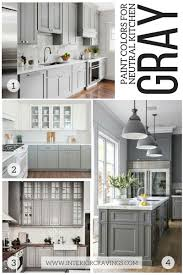 Gray Kitchens 24 Modern Neutral Paint Colors For Your Kitchen Remodel Interior