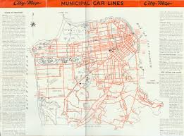 San Francisco Streetcar Map Sf U0027s Streetcar System The Market Street Railway 1931 Sanfrancisco