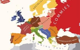 map eroupe smelly commies and europe mapped by