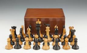 an early jaques staunton boxwood and ebony chess set c 1849 50