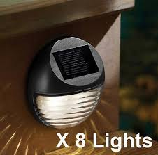 Solar Powered Fence Lights - wall fence lighting u2014 365onlineshopping