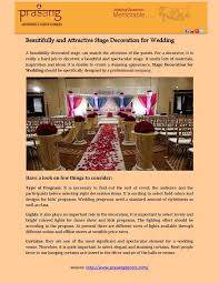 Create A Wedding Program If You Need To Find The Ultimate Stage Decoration Firm For Wedding