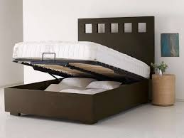 Modern Wooden Beds Bedroom Creative Rectangle Laminated Leather Beds With Storage