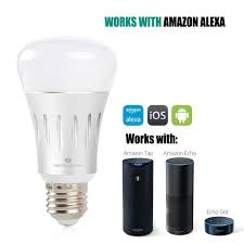 light bulbs that work with amazon echo wifi smart led light bulb silver 1 pack shipping to us only