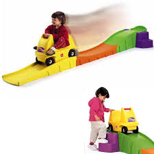 kids ride on roller coaster toy 1 seater car w 10 ft long track